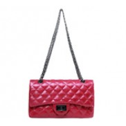 Iris Flap Bag Oil-tanned Grain Leather Hot Pink