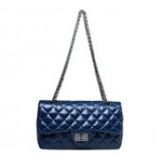 Iris Flap Bag Oil-tanned Grain Leather Blue