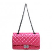 Iris Flap Bag Lambskin Hot Pink