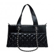 Brigitte Forever Quilted Leather Bag Black