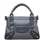 On The Road Again Leather Bag Grey