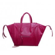 Whitney Cowhide Leather Bag Hot Pink