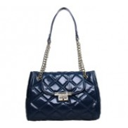 Naomi Flap Bag Oil-tanned Leather Blue