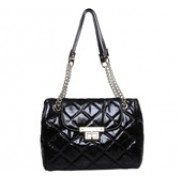 Naomi Flap Bag Oil-tanned Leather Black