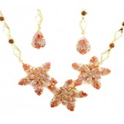 Nancy Jewelry Sets With Swarovski Elements Rhinestone In Gold Yellow