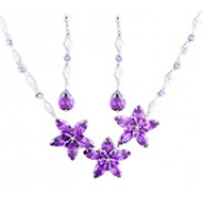 Nancy Jewelry Sets With Swarovski Elements Rhinestone Purple