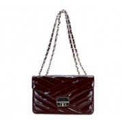 Miranda Flap Leather Bag Wine