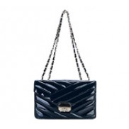 Miranda Flap Leather Bag Blue