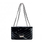Miranda Flap Leather Bag Black
