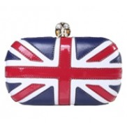 Christina Union Jack Box Clutch