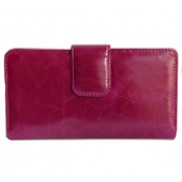 Britannia Long Wallet Cowhide Leather Purple