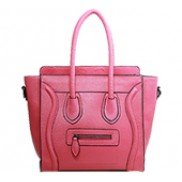 Vanessa Medium Tote In Grain Leather Hot Pink