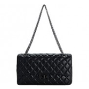 Adele Flap Bag Cowhide Leather Black