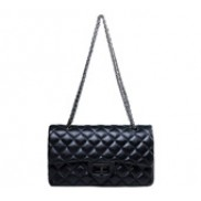 Iris Flap Bag Lambskin Black