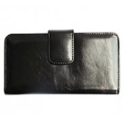Britannia Long Wallet Cowhide Leather Black