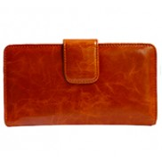 Britannia Long Wallet Cowhide Leather Brown