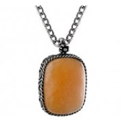 Antique Faux Stone Pendant