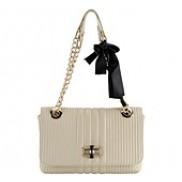 Supermodel Pick Leather Flap Bag Cream