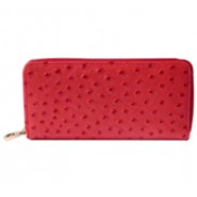 Yukon Purse Wallet Ostrich Leather Pink