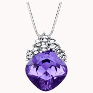Charming Girl Necklace Purple