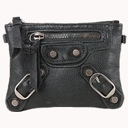 The Biker Leather Pochette Wallet Black