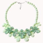 Spring Green Flower Necklace