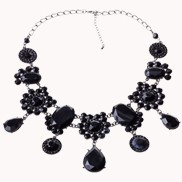 The Enticement Of Black Bib Necklace