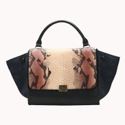 Dangerous Love Top Handle Bag Blue And Beige