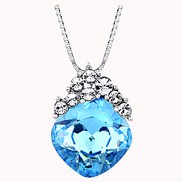 Charming Girl Necklace Sky Blue