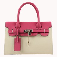 Sandra Leather Tote Bag Cream