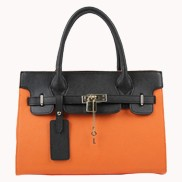 Sandra Leather Tote Bag Orange