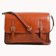Ellen Cross Body Leather Bag Brown