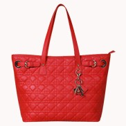 Julianne Leather Tote Bag Red