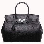 The Essential Jane Bag Ostrich Leather Black