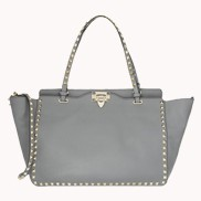Rockstar Calfskin Leather Bag Grey