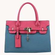 Sandra Leather Tote Bag Blue