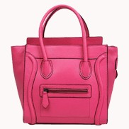 Vanessa Medium Tote In Leather Hot Pink