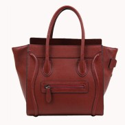 Vanessa Medium Tote In Leather Wine