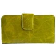 Britannia Long Wallet Cowhide Leather Green