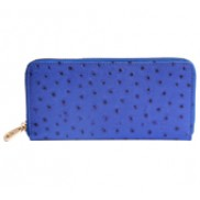 Yukon Purse Wallet Ostrich Leather Blue